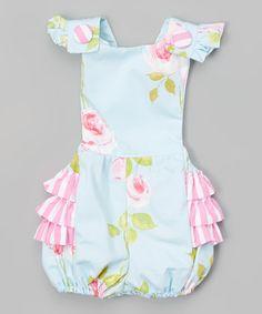 Pink & Light Blue Floral Jill Dress