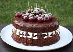 Extra čokoládová torta s čerešňami - Recept Food, Pastries, Brownies, Cakes, Diet, Cake Brownies, Cake Makers, Essen, Tarts