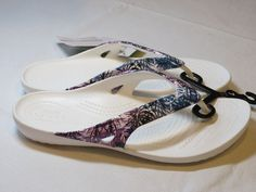 Crocs Kadee II Floral Flip relaxed fit womens W 7 W7 flip flops sandals 203219*^ #Crocs #Sandalsflipflops