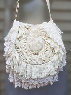 Bohemian Victorian Style Gypsy Handbag by TurtleDoveBagsEtc, $275.00