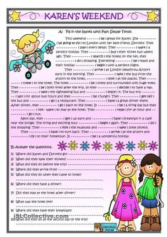 Karen's weekend *Past Simple Reading* worksheet - Free ESL printable worksheets made by teachers