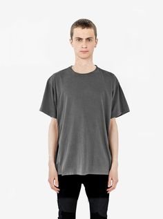 Pigment Dyed Basic Tee in Faded Black