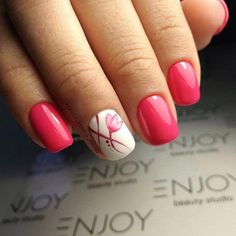 Best Sexy Pink Color Nails Art For Prom And Weekend Party - Page 58 of 92 - Trendy Elves Pink Nail Art, Pink Nails, Shellac Nails, Acrylic Nails, Trendy Nails, Cute Nails, Do It Yourself Nails, Watermelon Nails, Fall Nail Art Designs