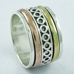 AMAZING RING DESIGN 925 STERLING SILVER SPINNER RING,R5020 FOR YOUR LOVED ONES #Handmade #Spinner #AllOccasions