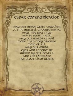 Clear communication Spell for homemade Halloween Spell Book. Wiccan Witch, Magick Spells, Hoodoo Spells, Wicca Witchcraft, Halloween Spell Book, Halloween Spells, Sigil Magic, Magic Symbols, Potions Recipes