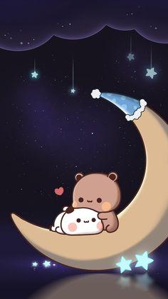 Cute Panda Wallpaper, Cute Couple Wallpaper, Cute Pastel Wallpaper, Bear Wallpaper, Kawaii Wallpaper, Wallpaper Iphone Cute, Walpapers Cute, Cute Love Gif, Cute Art