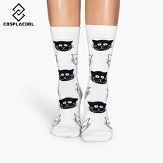 Cute Kitty Cat Patterned Socks (4 options)