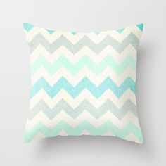 Crazy for Chevron - Vintage Slate Throw Pillow by Tracey Krick | Society6