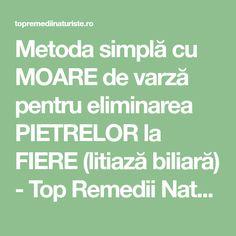 Metoda simplă cu MOARE de varză pentru eliminarea PIETRELOR la FIERE (litiază biliară) - Top Remedii Naturiste