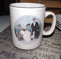 Vintage (c.1984) commemorative coffee or tea mug celebrating the birth of Prince Harry. Made in England by St George.  Gold edge.
