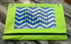 Personalized 3 ring binder pencil bag/pouch by customvinylbydesign, $8.50