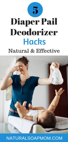 Learn the 5 best diaper pail deodorizer hacks to banish the stink for good. Safe to use around your kids and effective! Useful for both cloth diapers and disposables. Great alternative to expensive diaper genies that don't work. Baking soda and essential Cloth Diaper Pail, Cloth Diapers, Diaper Genie, Diaper Rash, Kids Clothing Brands, Clothing Stores, Toddler Age, Disposable Diapers, Deodorant