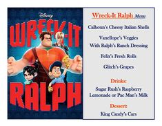 Disney Meal #48  - Wreck-It Ralph