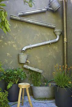 DIY   สร้างแฟชั่นของตัวเองง่ายๆ: ไอเดียงานประดิษฐ์ รางน้ำฝน ประดับบ้าน