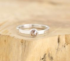 Rose cut diamond ring Chocolate diamond engagement ring in hammered sterling silver Diamond stacking ring Modern jewelry by Freesize di Freesize su Etsy https://www.etsy.com/it/listing/233959503/rose-cut-diamond-ring-chocolate-diamond