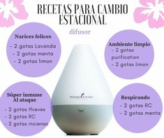 Recetas de difusor por cambio estacional Young Living Kinder, Young Living Oils, Young Essential Oils, Essential Oil Blends, Young Living Diffuser, Esential Oils, Yl Oils, Oil Mix, Diffuser Blends