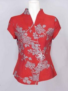 How To Sew Mandarin Collar Piece On Blouse For Women