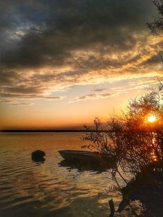 Valli di Ravenna, barche al tramonto. #sunset #italy