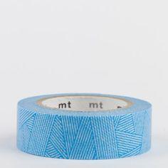Masking tape / tissage bleu (messy cyan)