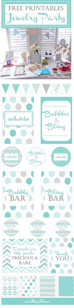 Host your own jewelry party with these free party printables from Flairy Tales