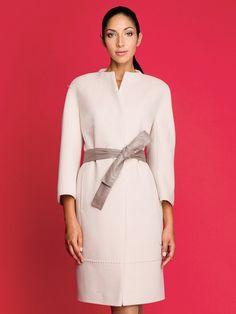 Пальто женское цвет молочный, Ворс, артикул 30135403