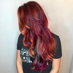 What better way to come back from vacation than a gorgeous, tropical color melt? #violetthestylist #bouffantbabes #btconeshot_color16 #btconeshot_rainbow16 #btconeshot_hairpaint16 #btconeshot_transformations16
