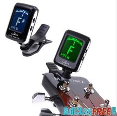 Mini Clip-on Clip on LCD Display Guitar Tuner Backlight 360 Degree Rotatable Clip for Guitar Chromatic Bass Violin and Ukulele Ukulele Pictures, Buy Guitar, Guitar Tuners, Cheap Guitars, Guitar Parts, Guitar Tips, Clips, Musical Instruments, Music