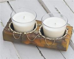 Double Sugar Mold Candle Holder