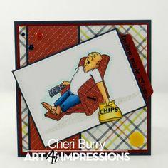 Art Impressions Lazy Boy set by CheriB Designs
