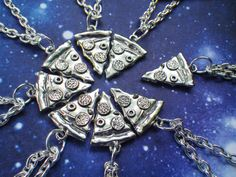 Pizza Necklace BUY 7 SLICES get 1 FREE by lotusfairy on Etsy, $10.00