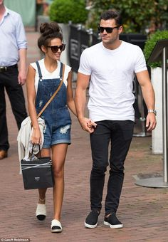 Celebrating! Michelle Keegan and Mark Wright headed to Cambridge on Wednesday as they marked their one-month wedding anniversary