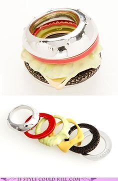 hamburger bracelet  Designed by Q-pot