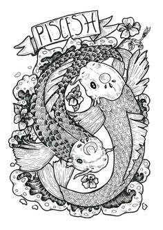 Lunar Eclipse Full Moon in Libra by Aquarius Nation — Bohemian Collective Zodiac Art, Pisces Zodiac, Zodiac Signs, Zodiac Tattoos Pisces, Colouring Pages, Adult Coloring Pages, Coloring Books, Full Moon In Sagittarius, Pisces Moon Sign