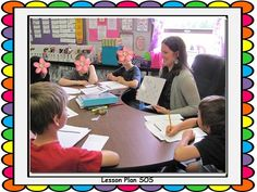 Teacher with guided math group