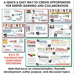 Collaborative placemats to guide student small group discussions