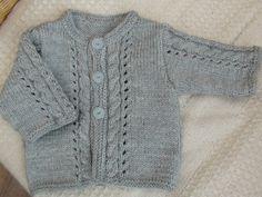 Gilet ajouré au tricot