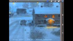 Procreate Tutorial Winter Volvo - by Nikolai Lockertsen. high speed animation of his drawing process, done in Procreate. In this one you can see the brushes and color palette. Fascinating to watch.
