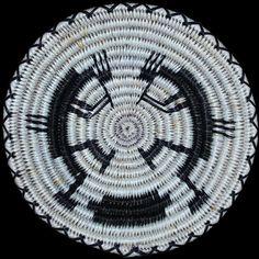 Navajo Kokopelli Basket - Nellie Black
