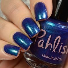 deep midnight blue cream with teal to purple shifting shimmer Royal Blue Nails, Nail Polish Collection, Blue Cream, Beauty Nails, Nail Designs, Make Up, Bride, Purple, Nail Polishes