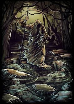 One point of view about the Pied Piper is that he was a symbol of death. Grim Reaper Art, Don't Fear The Reaper, Arte Horror, Horror Art, Dark Fantasy Art, Dark Art, Arte Obscura, Necromancer, Angel Of Death