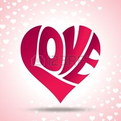 vector of love heart Stock Vector