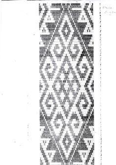 Diagrama mapuche Inkle Weaving, Inkle Loom, Tablet Weaving, Hand Weaving, Crochet Chart, Crochet Patterns, Maori Patterns, Native Design, Loom Beading