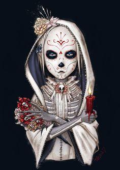 Day of the dead. Sugar skull. Dia de los Muertos Guy by ~nastynoser