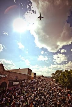 Sturgis, AIM HIGH, and SOAR!   I rode in that day with DAKOTA THUNDER the Air Force motorcycle club. It was great.