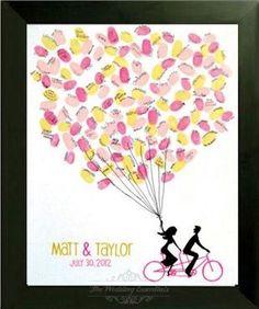 Fingerprint Guest Book/ Fingerprint tree/ Custom Thumbprint Poster/ Wedding Poster on Etsy, $35.99