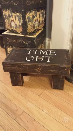 Rustic / Primitive Time out stool by TwiceLovedBoutiques on Etsy https://www.etsy.com/listing/185393429/rustic-primitive-time-out-stool