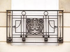Fine Art Iron Railing - Balcony Design From Historical Record. Designs, railings, and staircase iron handcrafted and made to order from the highest quality materials, handcrafted in the USA Balcony Grill, Iron Balcony, Balcony Garden, Wrought Iron Stairs, Wrought Iron Decor, Balcony Railing Design, Stair Railing, Loft Railing, Metal Railings