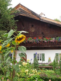 Bavarian Alps, Germany. Same style as my aunts house in Innsbruck!
