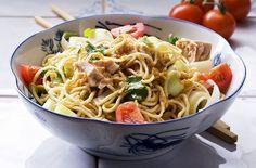 Tuna and noodle salad recipe - Recipes - goodtoknow