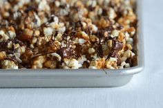 Butter Toffee Popcorn {with Dark Chocolate & Salted Nuts}